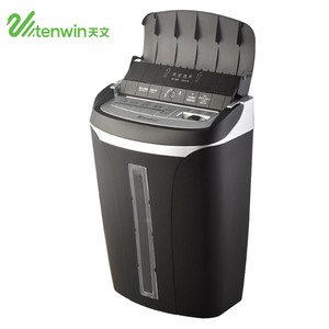 hot 2018 Tenwin 9001 black 21L auto feed ABS secrecy electronic paper shredder