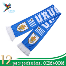 Mini banner soccer fan knitted factory custom printed football scarf,soccer scarf