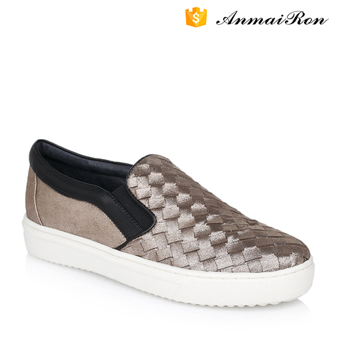Flat shoes comfortable casual shoes female leather slip-on loafer shoes
