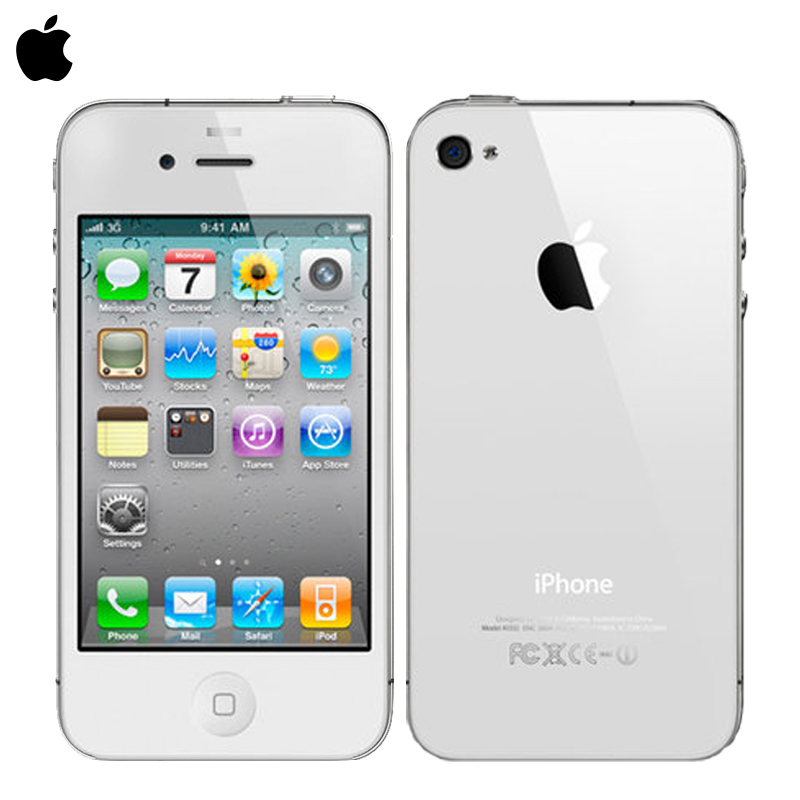 Free Shipping Unlock Apple Iphone 4 16GB ROM  5MP Camera  Wifi GPS WCDMA 3G