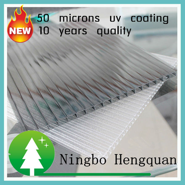 50 microns uv coating fire proof polycarbonate sheet