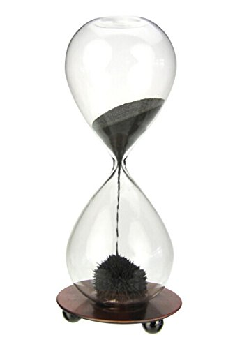 Zicome Hand-blown Glass Sand Timer Magnet Magnetic Hourglass with a Iron Base