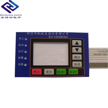 The high quality power polycarbonate LED Light Display membrane switch  with 3M Adhesive