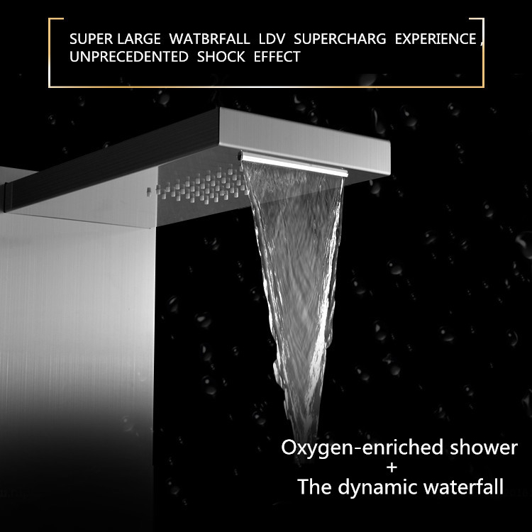 water saving thermostatic stainless steel shower panel for bathroom