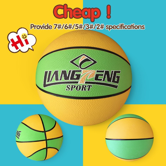 Factory direct saling mini cartoon basketball,graphic design rubber basketball