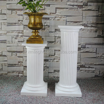 Indoor roman decorative fiberglass pedestal buy for Decorative fiberglass columns