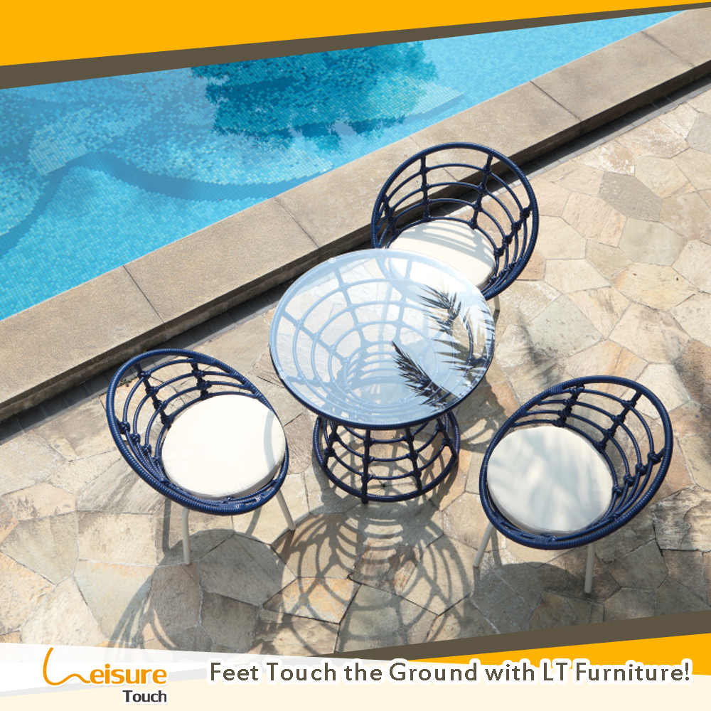 China outdoor furniture manufacturer rattan patio table set furniture 4 chairs wicker garden set
