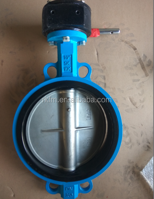 JIS F5732 CAST IRON WAFER TYPE BUTTERFLY VALVE WORM GEAR OPERATED 5K/10K MARINE VALVES
