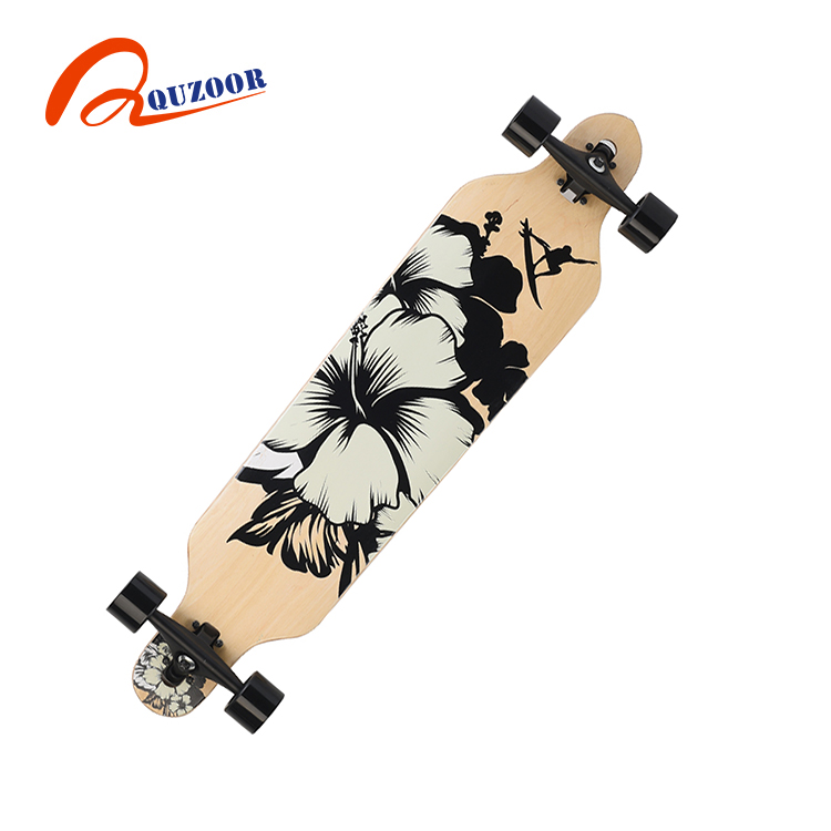High quality 41 inch durable kid maple skateboard longboard for sale