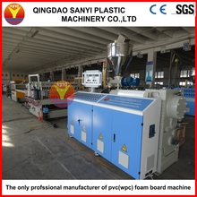 PVC/WPC plastic recycled construction/door/floor/furniture/advertising/decoration crust foamed board line/extruder