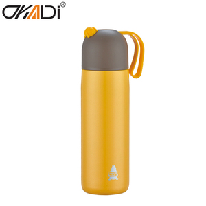 Best Selling Customized Logo 316 Stainless Steel Water Bottle Double Wall Insulated Vacuum Flask with Strap