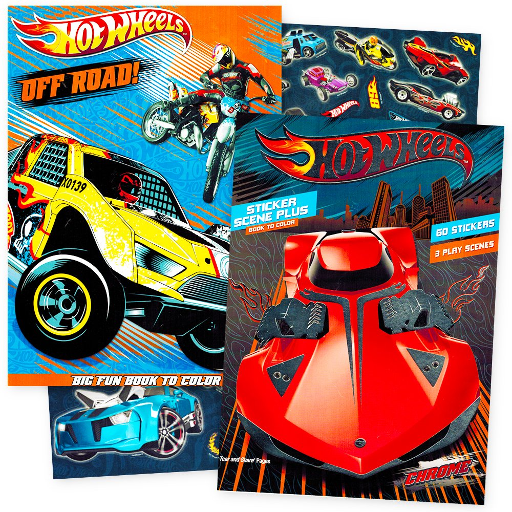 - Buy Hot Wheels Coloring Book Super Set With Stickers -- 2 Books