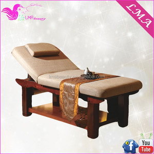 2015 stong quality high cost effective spa bed wooden thai massage bed for beauty salon