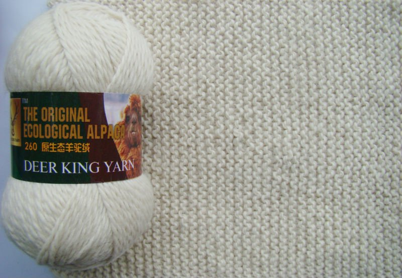 Raw white alpaca &alpaca wool blended hand knitting yarn