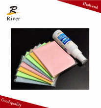 logo printed microfiber lens cleaning cloth and lens cleaner sets with good quality