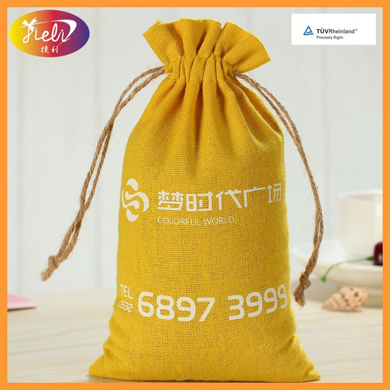 Fashionable Linen For Jewelry Jute Bag Coffee