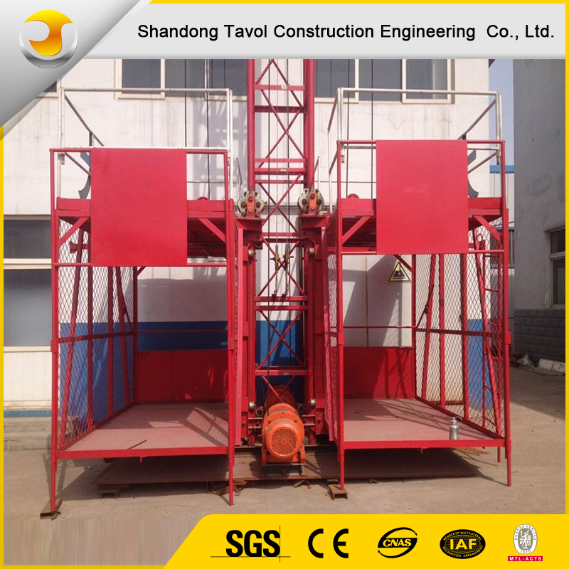 SS100/100 Construction Lifting Equipment Hoisting 1ton Construction Elevator