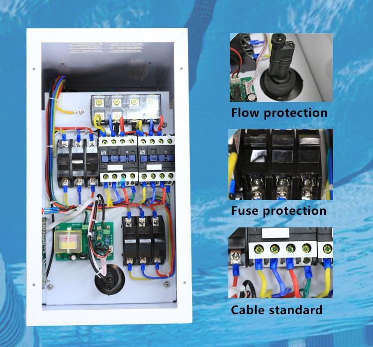 Digunakan Kolam Spa Air Peralatan Pemanas Listrik Kolam Renang Pemanas Air