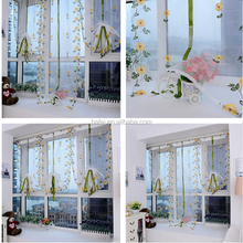 Modern Floral Panel Draperies and Blinds Tulle Window Treatments Sheer Curtains