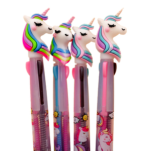 Cute Unicorn Promotional Ball Pen Cartoon Candy 3 Colors Doll Ballpoint Pen