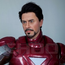Marvel High Simulation Lifesize Resin Sculpture For Iron Man Wax Figure