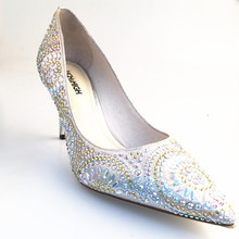 2018 Hunter Model Rhinestone ladies high heel stilettos heel party wedding bridal dress shoes
