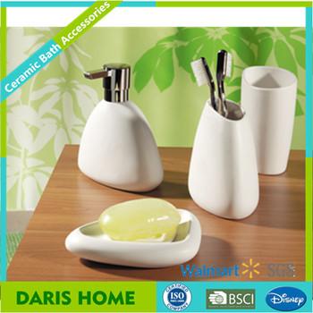 Bathroom accessories porcelain 4 pcs white ceramic bathroom accessories set buy bathroom - Find porcelain accessory authentic ...