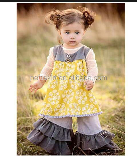 6b735ddc6f02 Girls boutique outfit children ruffle outfit mustard pie remake 2018 ...