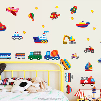 nursery wall decals wall designs for living room animated car
