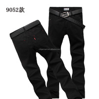 Free Shipping fashion design 100% cotton men pants straight casual black men denim jeans 28-38