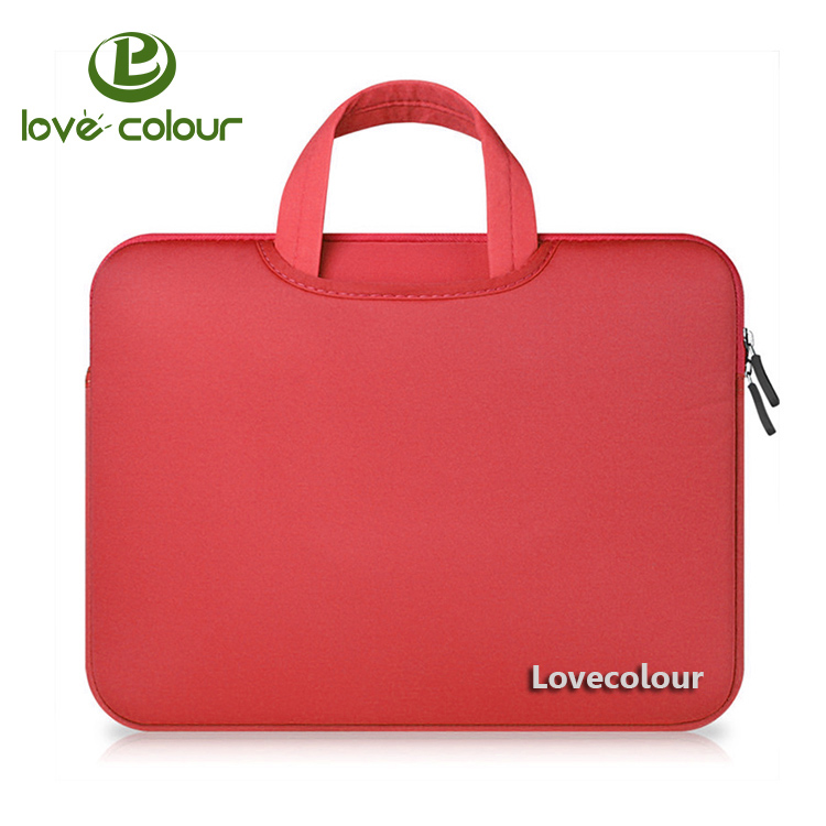 Custom Different Size Red 노트북 Sleeve Case Cover Neoprene Laptop Bag