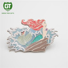 Custom Beautiful Free sample metal Mermaid soft enamel lapel pin badge