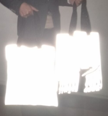 Non ทอที่กำหนดเองบทความวาดสตริงถุงเทปสะท้อนแสง