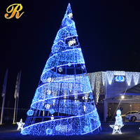2016 new premium waterproof material Blue spiral christmas tree
