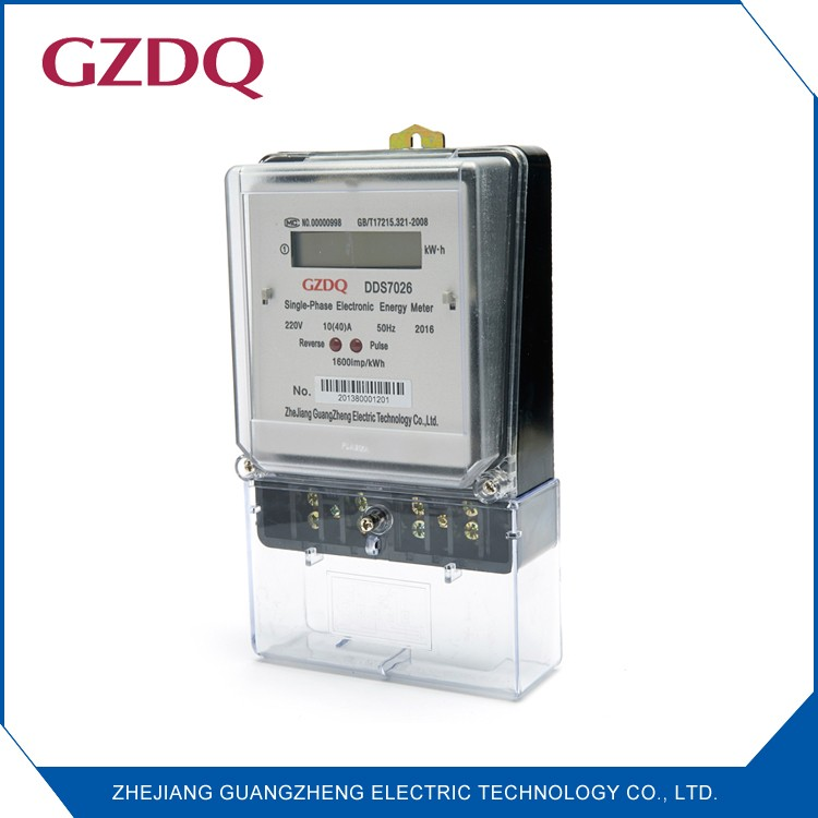 DDS7026 Class1 ac active single phase electronic kwh meter