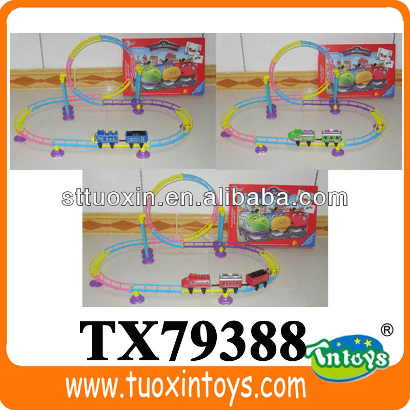 mini rc race track car, battery operated rail car