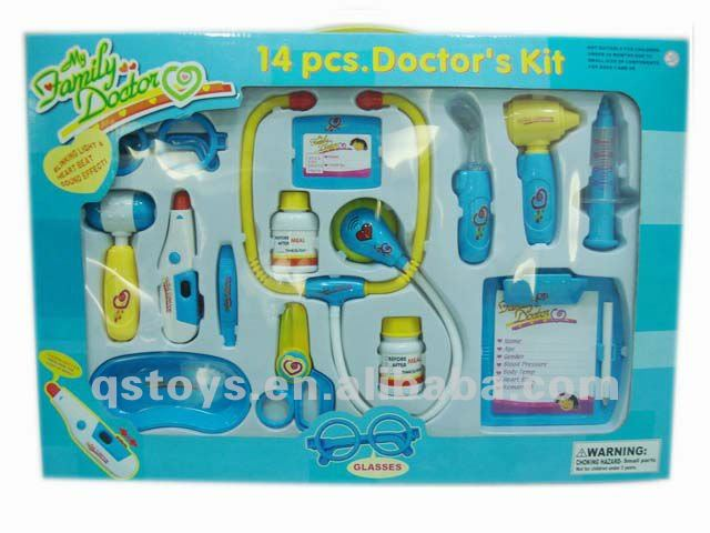 Kids doctor play set,plastic medical toys QS111225022
