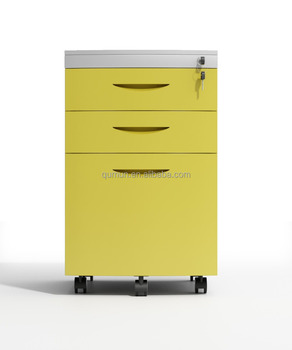 Steel Filing Cabinet With 3 Drawer Office Furniture Made In China