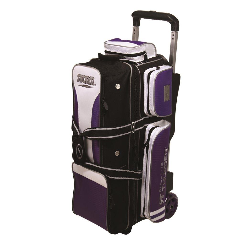 3 Ball Rolling Thunder Bowling Bag by Storm- Purple/Black/White ()