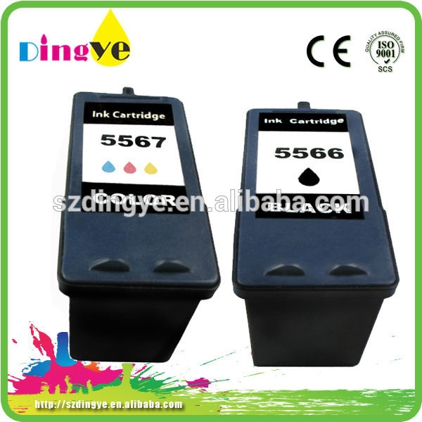 Remanufacture ink cartridge for Dell J5566 J5567 office supplier ink cartridge