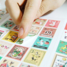 4Sheets/Pack New Francoise Theme Paper Stamp Sticker Diary Decorative Stickers Affixed H0198