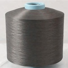 sell 100% polyester dope dyed dty 150D/48F black dty AA grade knitting yarn