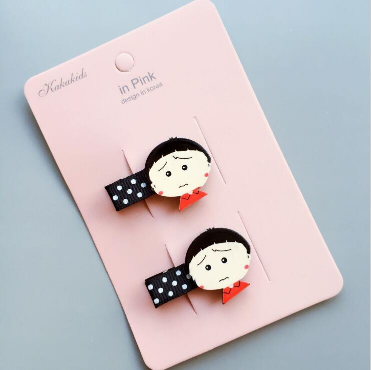 ourui hot sale girl hair pins lovely kids clips