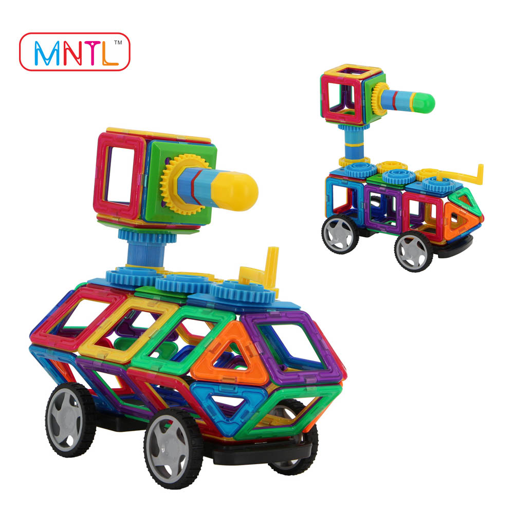208PCS DIY Car Sets Magnet Gear Toys for Kids/Magnetic Building Block Baby Toy/ Educational Connecting Free Assemble 3D Puzzle