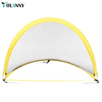 factory direct top quality yellow foldable portable pop up soccer goal