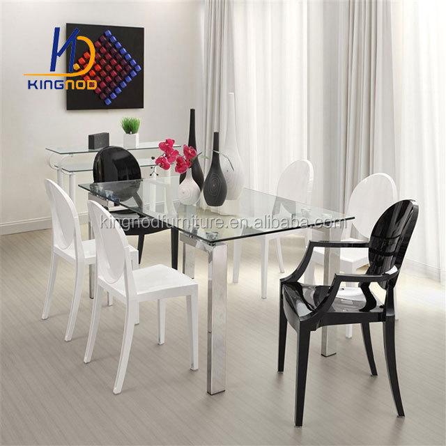 Muebles De Comedor Mesa De Comedor De Vidrio Templado Superior Con ...