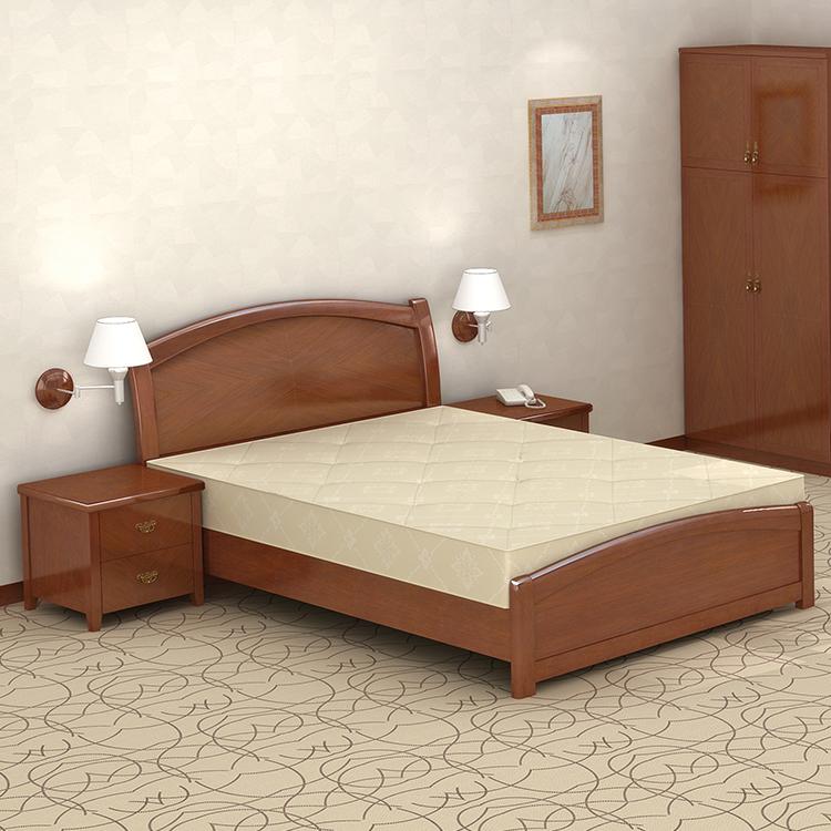 Solid Wood Frame Queen Bedroom Furniture Set For Living