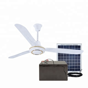 solar DC 12V36W 56 inch new design solar bldc ceiling fan