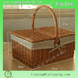 natural handmade willow empty picnic baskets wholesale,Natural materials and environmentally friendly willow picnic basket