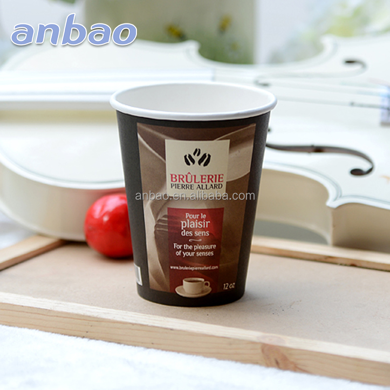 single wall Standard size hot drink paper cup